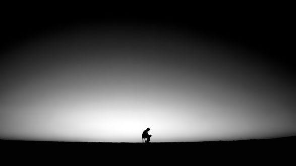 Обои Человек в одиночестве