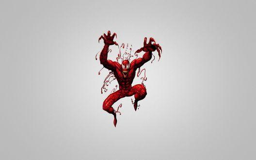 Обои Монстр из комиксов 'Spider-Man / Человек-паук' в прыжке