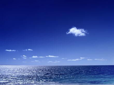 Обои Бескрайний голубой океан
