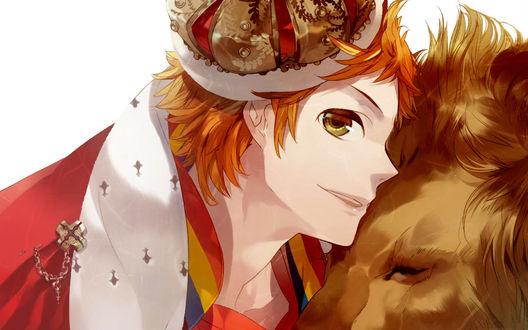 Обои Знаки зодиака в стиле аниме: Лев / Leo - Naoshi Haruki / Харуки Наоши из аниме Звёздное Небо / Starry☆Sky