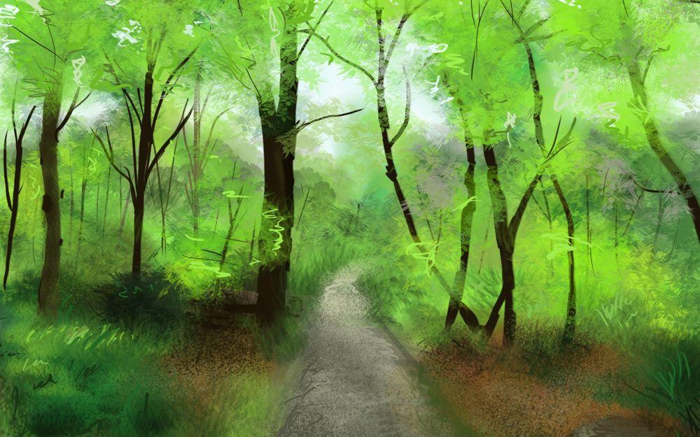 картинка зеленая тропинка хотим