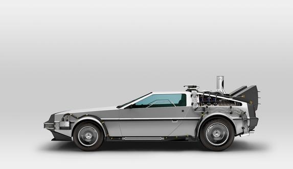 Обои Футуристически модифицированный автомобиль DeLorean DMC-12