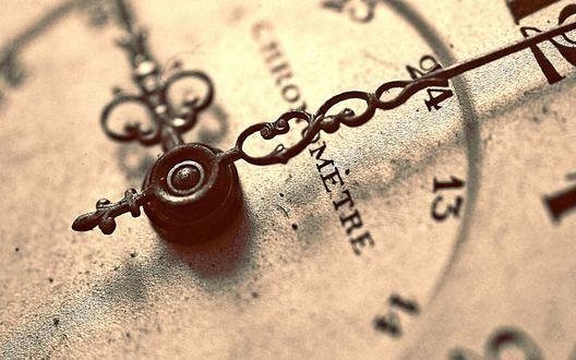 Обои Циферблат часов со стрелками (CHRONOMETRE)