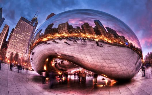 Обои Милленниум парк, Чикаго, США / Chicago, USA