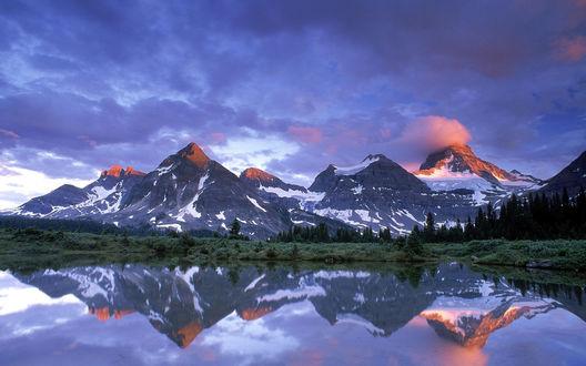 Обои Гора Ассинибойн, Канада / Assiniboine, Canada