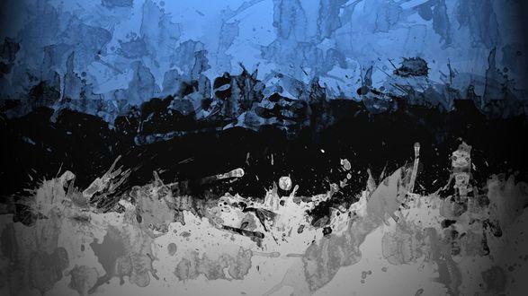 Обои Абстрактный рисунок эстонского флага