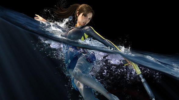 Обои Лара Крофт / Lara Croft в воде