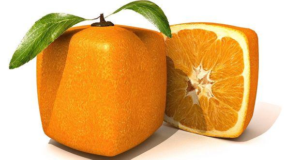 Обои Апельсин в форме куба