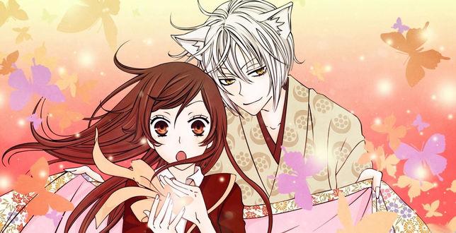 Обои Удивленная Нанами Момодзоно / Nanami Momozono и Томоэ / Tomoe из аниме 'Очень приятно, Бог / Kami-sama Hajimemashita'