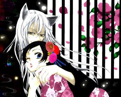 Обои Нанами Момодзоно / Nanami Momozono и Томоэ / Tomoe из аниме 'Очень приятно, Бог / Kami-sama Hajimemashita'