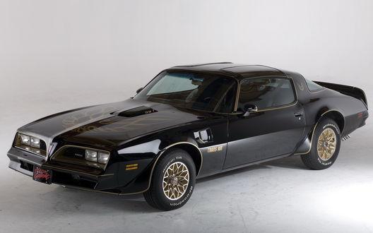 Обои Черный автомобиль Pontiac Firebird Trans Am 1979 / Понтиак Фаерберд Транс Ам 1979