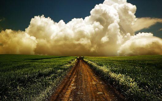 Обои Дорога в облака