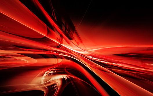 Обои Узор из красных линий
