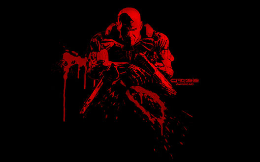 Обои Майкл Сайкс / Michael Sykes с позывным именем Псих / Psycho - персонаж из игры Crysis Warhead / Кризис Боеголовка