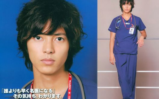 Обои Певец Yamashita Tomohisa / Ямасита Томохиса в костюме доктора