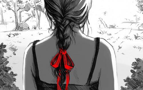 черно белые фото девушек со спины: