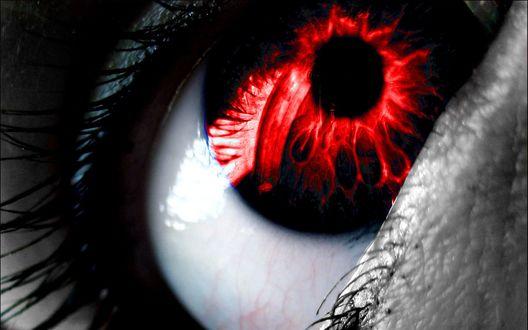 Обои Красный глаз