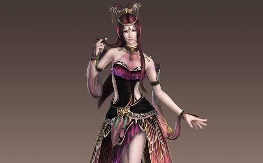 Обои Девушка в красивом платье, персонаж из игры Dynasty Warriors