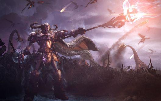 Обои Фудзияма / Torch Bearer посылает войска в атаку, персонаж из игры Demigod / Битвы богов