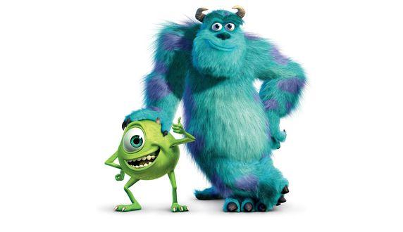 Обои Главные герои мультфильма студии Пиксар / Pixar Корпорация Монстров / Monsters. Inc Майк Вазовски и Салли Салливан / Mike Wazowski and James P. Sulley Sullivan