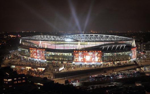 Обои Ночной стадион Эмирейтс / Emirates Stadium