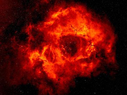 Обои Ярко-красная космическая туманность