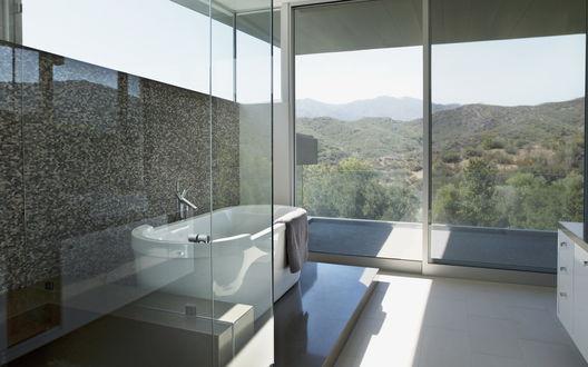 Обои Интерьер ванной комнаты