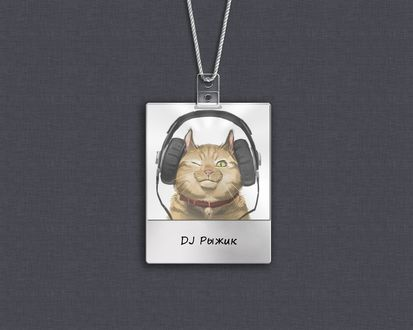 Обои Кот в наушниках (DJ Рыжик)