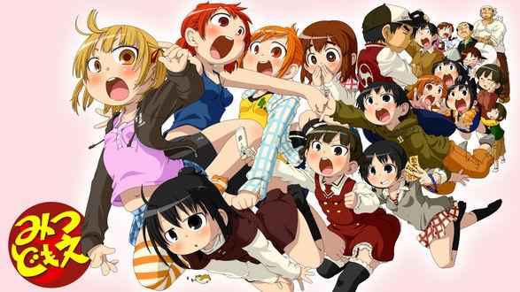 Обои Персонажи из аниме Mitsudomoe / Отвязная троица (Три сестры)