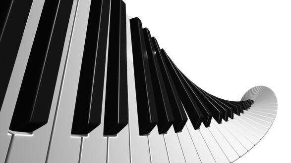 Обои Волнистые клавиши рояля