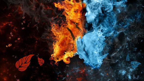 Девушка с горящей шкатулкой загрузить