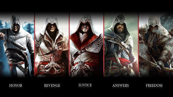 Обои Герои игры Assassins Creed II