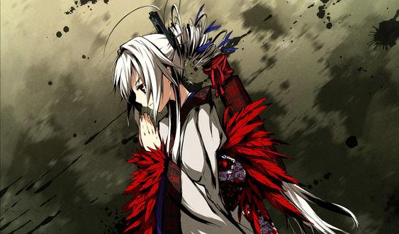 Обои Kyougetsu Sakuya из игры - визуальной новеллы Kajiri Kamui Kagura