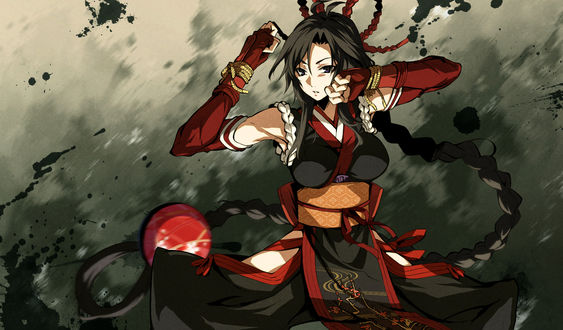 Обои Kujou Shiori из игры - визуальной новеллы Kajiri Kamui Kagura