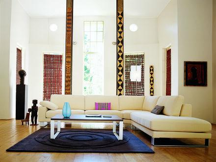 Обои Комната, оформленная в африканском стиле