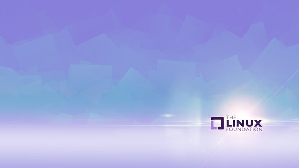 Обои Логотип Фонда Линукс / The Linux Foundation на мягком кубическом абстрактном фоне