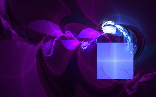 Обои Фракталы - лиловые клубы дыма