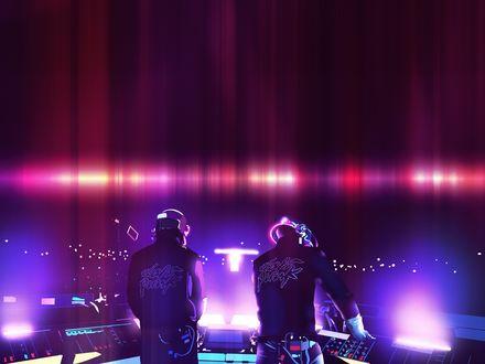 Обои Группа Дафт Панк / Daft punk на своем концерте