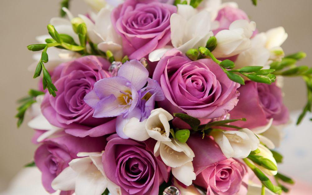 Обои для рабочего стола Букет с розами