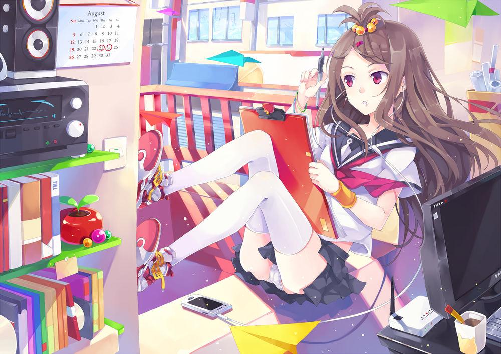 Аниме девочки нарисованные на компьютере