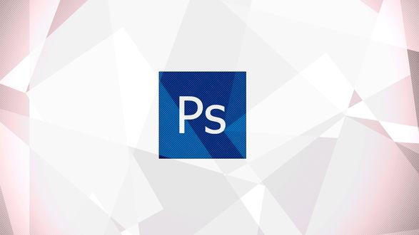 Обои Логотип Адоб Фотошоп / Adobe Photoshop на светлом фоне