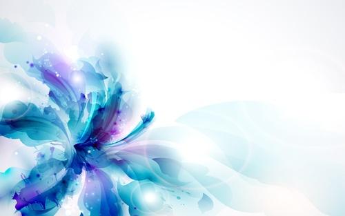 Обои синий цветок на белом фоне
