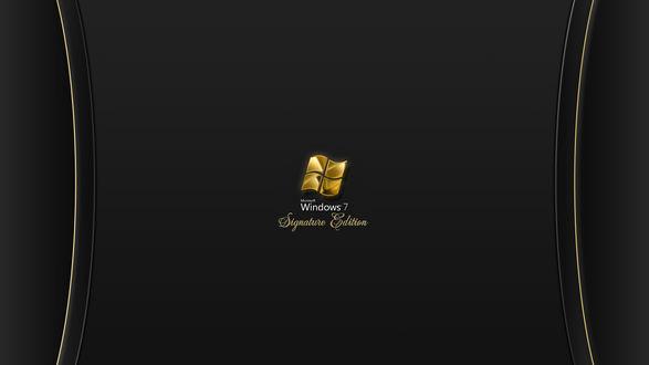 Обои Windows7 в черно-золотых тонах (Signature edition)