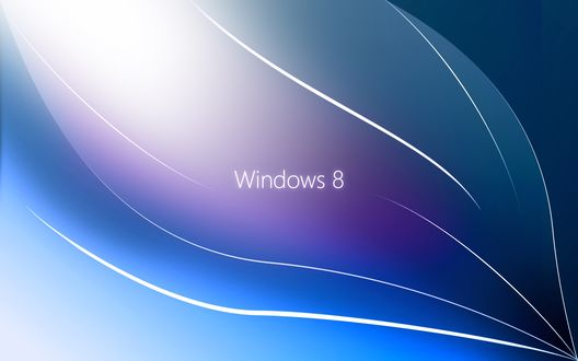 Обои Windows 8 среди белых полосок