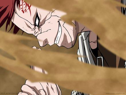 Обои Gaara / Гаара из аниме Naruto / Наруто применяет технику