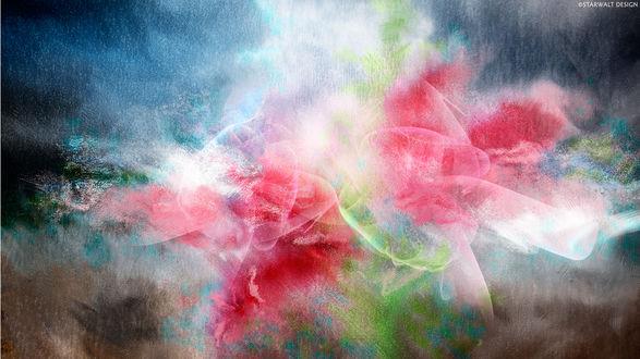 Обои Красивые абстрактные цветные пятна и разводы, автор Starwalt