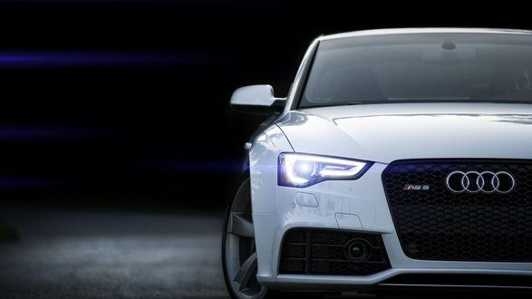 Обои Новая белая Audi / Ауди RS 5