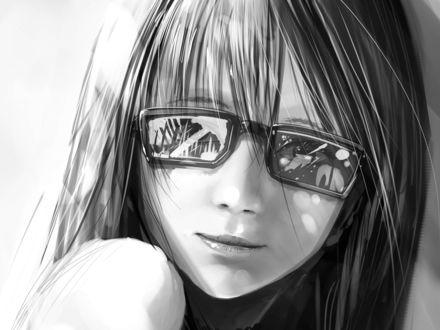 Обои Девочка в очках
