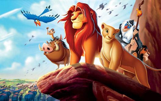 Обои Все персонажи мультфильма Король Лев 1 / The Lion King 1