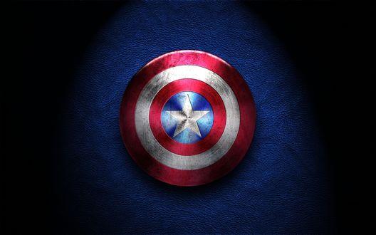 Обои Щит Капитана Америки / Captain America супергероя из комиксов компании Marvel Comics